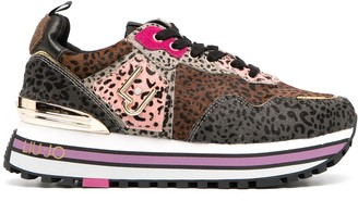 Liu Jo Animal-Print Platform Sneakers