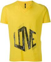 Versus love slogan T-shirt - men - Cotton - L