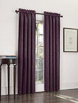 Sun Zero Cadence Velvet Textured Woven Blackout Curtain Panel, 52 by 63-Inch, Eggplant