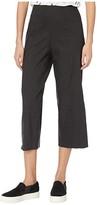 Vince Crop Wide Pants (Black) Women's Casual Pants