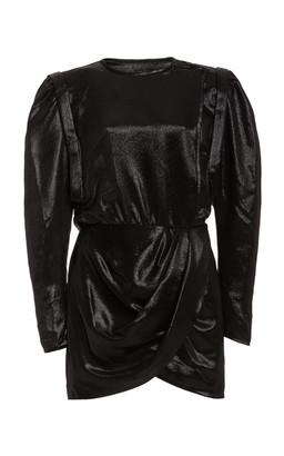 Isabel Marant Bagota Puffed-Silk Silk-Blend Dress