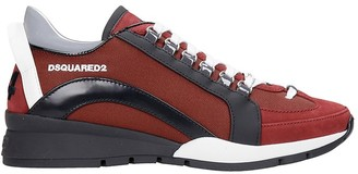 DSQUARED2 551 Sneakers In Bordeaux Synthetic Fibers