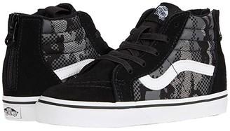 Vans Kids Sk8-Hi Zip (Infant/Toddler) ((Pattern Camo) Black/True White) Boys Shoes
