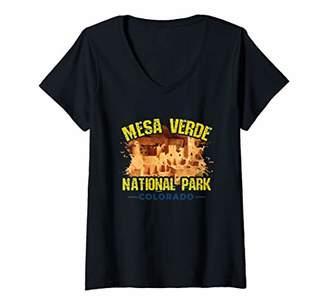 Womens Mesa Verde National Park Shirt Colorado Gift Souvenir V-Neck T-Shirt