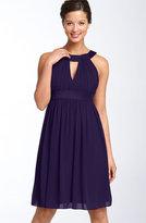 Keyhole Chiffon Dress