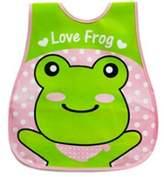 Kylin Express Baby Bib Best Home/Travel Bib Lovely Cartoon Design Soft,Waterproof Frog