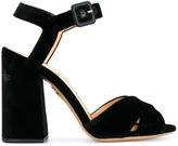 Charlotte Olympia Emma sandals - women - Calf Leather/Leather/Velvet - 35.5
