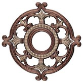 "Livex Lighting Ceiling Medallion in Palacial Bronze with Gilded Accents Size: 1.5"" H x 23.5"" W x 23.5"" D"