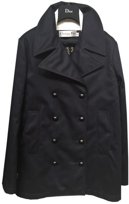 Christian Dior Navy Cotton Trench Coat for Women
