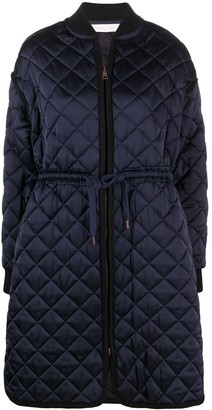 See by Chloe Quilted Tie-Fastening Coat