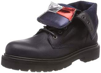 Tommy Jeans Hilfiger Denim Women's Big Flag Lace Up Boot Combat (Black 990)