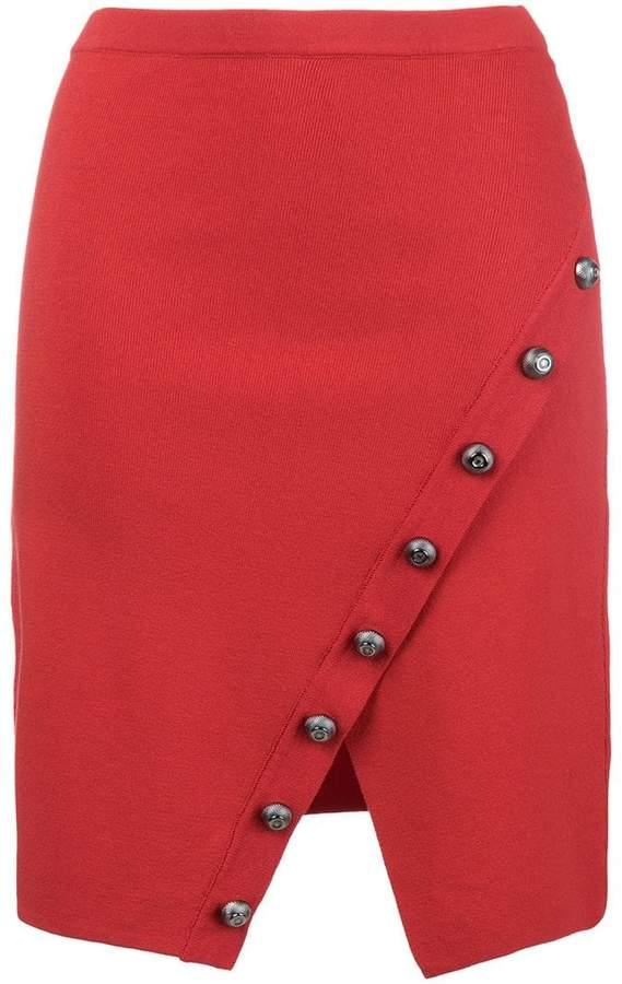 raw edge wrap style skirt