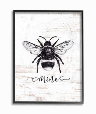 """Stupell Industries Bee Mine Drawing on Wood Framed Giclee Art, 16"""" x 20"""""""