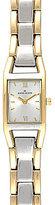 Anne Klein Rectangular Two-Tone 3-Hand Bracelet Watch