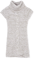 Pink Angel Gray Twist Turtleneck Dress - Girls