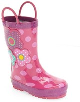 Western Chief Girl's 'Flower Cutie' Rain Boot