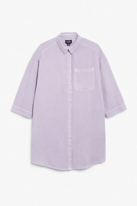 Monki Hidden-button shirt dress
