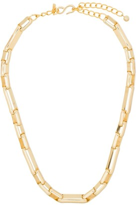 Kenneth Jay Lane Interlocking-Links Chain Necklace