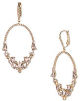 Jenny Packham Crystal and Champagne Gold Hoop Earrings