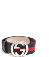 Gucci GG-buckle Web-canvas belt