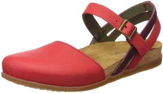 El Naturalista Women's NF41 Soft Grain Grosella Mixed/Zumaia Heeled Sandal 38 M EU / 8 B(M) US Medium EU (8 US)