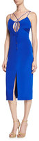 Cushnie et Ochs Lace-Up Sleeveless Pencil Dress