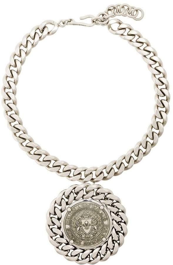 Balmain chunky medallion necklace