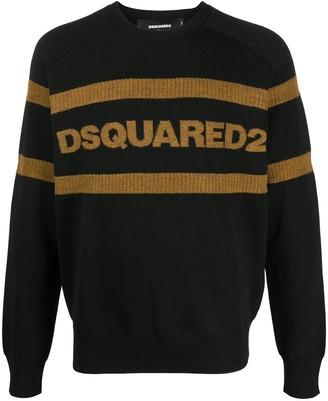 DSQUARED2 Logo-Intarsia Jumper