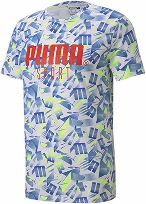 Puma Sport All Over Print Tee White/All Over Print LG