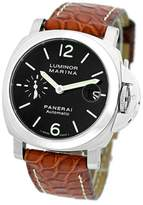 "Panerai Luminor Marina"" PAM 48 Stainless Steel & Leather Automatic 40mm Mens Watch"