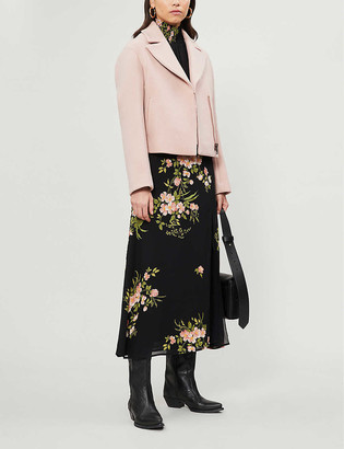 Ted Baker Asinata cropped wool-blend biker jacket