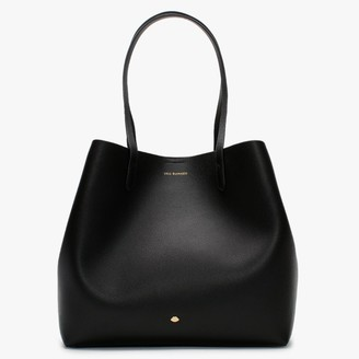 Lulu Guinness Ivy Black Leather Tote Bag