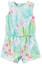 Carter's Floral-Print Embroidered Romper, Baby Girls (0-24 months)