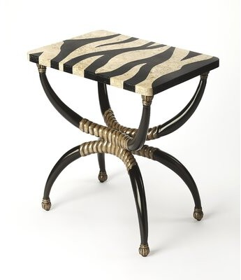 Thumbnail for your product : World Menagerie Kaya Zebra End Table