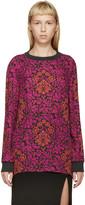 Mary Katrantzou Fuchsia & Red Silk Floral Shirt
