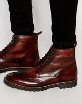 Base London Troop Lace-up Leather Boots