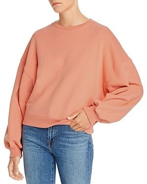 A Gold E Balloon Sleeve Sweatshirt