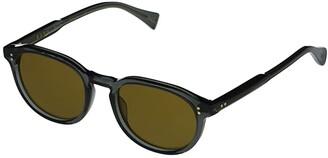 Raen Rolo 51 (Slate/Vibrant Brown Polarized) Fashion Sunglasses
