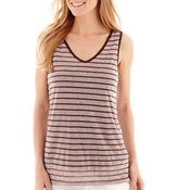 Liz Claiborne Sleeveless Striped Tank Top