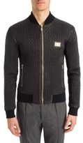 Dolce & Gabbana Pleated Leather Slim-Fit Jacket