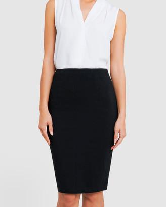 Forcast Rose Pencil Skirt