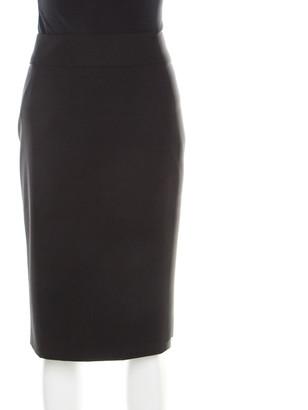 Boss By Hugo Boss Black Stretch Wool Tailored Pencil Skirt M