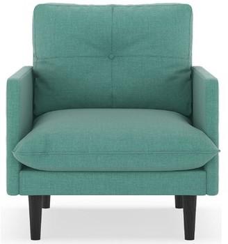 "Corrigan Studio Cracraft 25.25"" Armchair Upholstery Color: Blue Lagoon, Leg Color: Black"