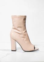 Missy Empire Priscilla Nude Patent Open Toe Heel Boots