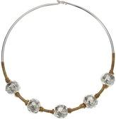 Robert Lee Morris Sculptural Bead Wire Collar Necklace