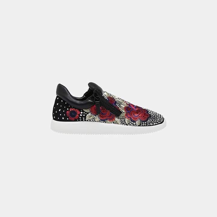 Giuseppe Zanotti Single Embroidered Side-Zip Sneaker