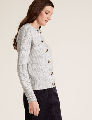 Marks and Spencer Ribbed Crew Neck Cardigan