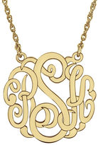 JCPenney FINE JEWELRY Personalized 14K Gold Over Sterling Silver 25mm Monogram Necklace