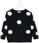 MonnaLisa polka dot jumper - kids - Polyamide/Polyester/Viscose/Angora - 2 yrs