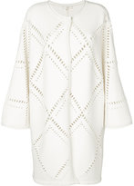Mantu perforated cardi-coat